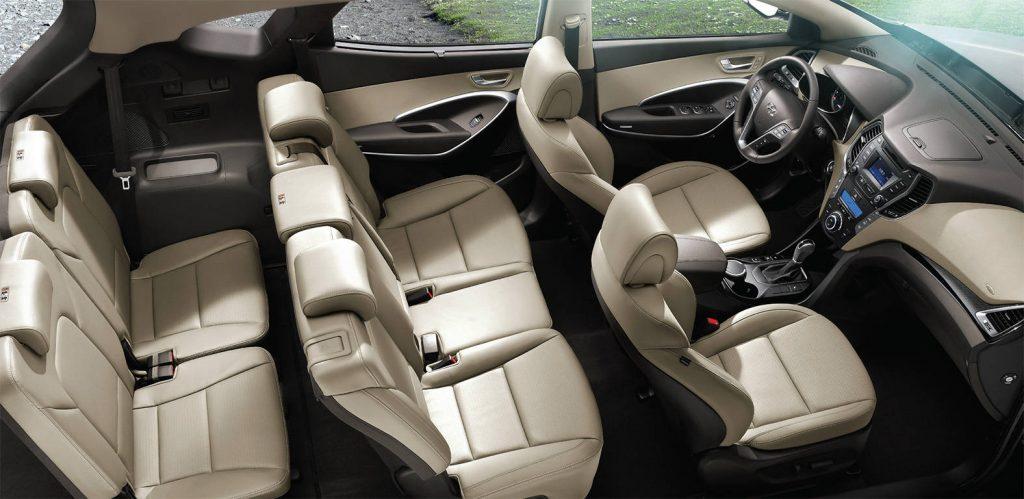 De Hyundai Santa Fe van 2012-2016 - interieur