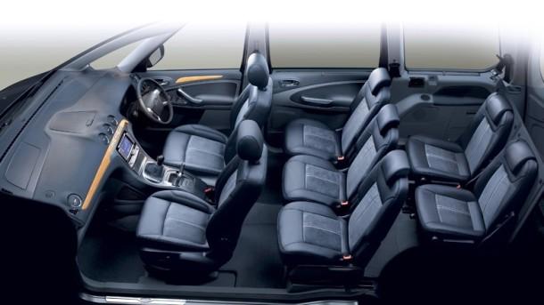 De Ford Galaxy met de facelift van 2015-2018 - interieur