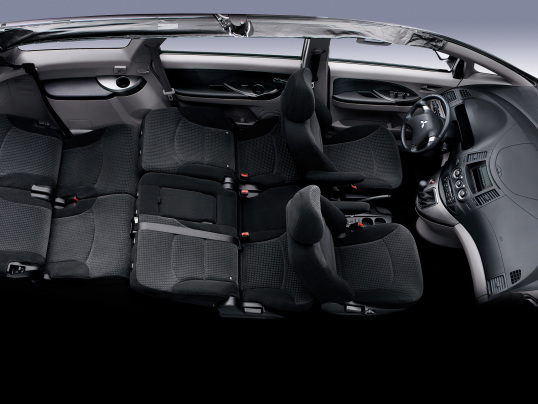 De Mitsubishi Grandis van 2004-2011 - interieur