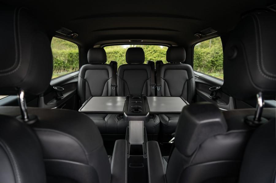 De Mercedes-Benz V-Klasse van 2019 - interieur