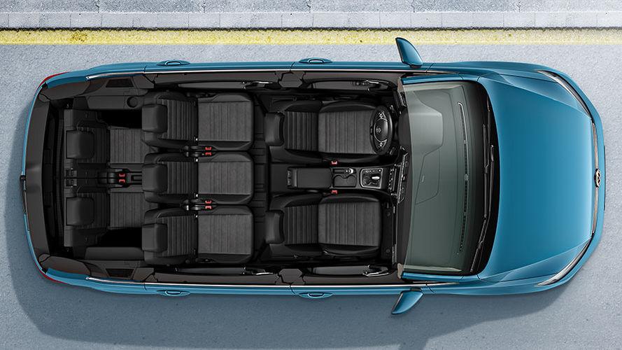 De Volkswagen Touran van 2015-2020 - dwarsdoorsnede
