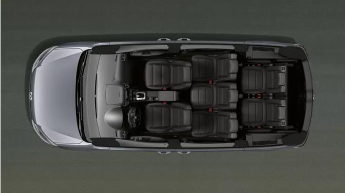 De Volkswagen Sharan van 2010-2015 - dwarsdoorsnede