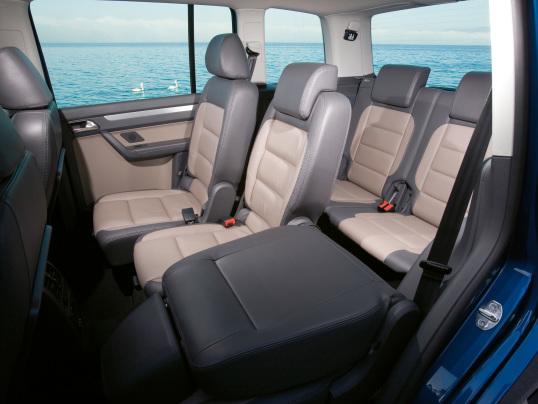 De Volkswagen Touran van 2010-2015 - interieur