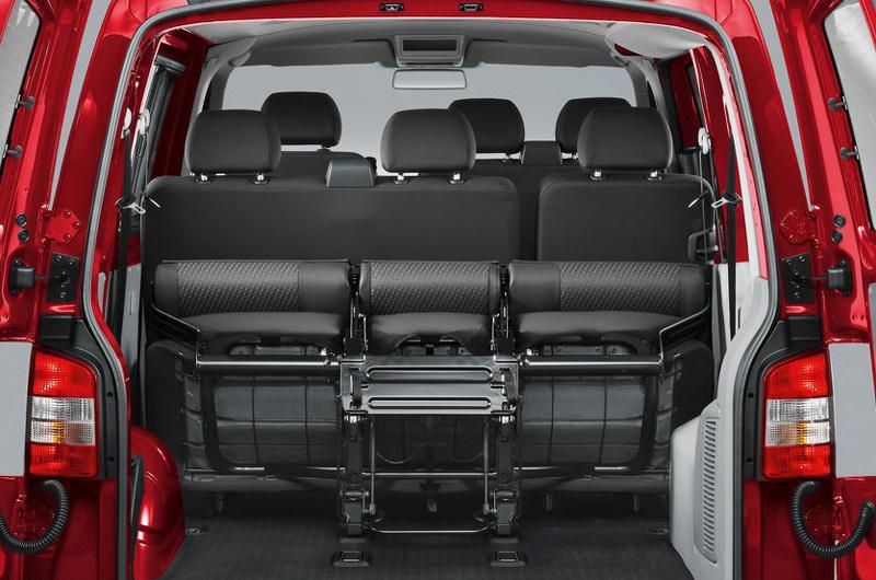 De Volkswagen Transporter Kombi van 2015 - interieur