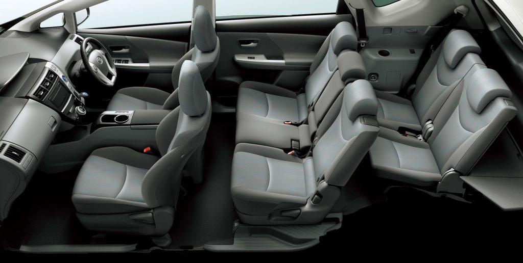 De Toyota Prius+ van 2015 - interieur