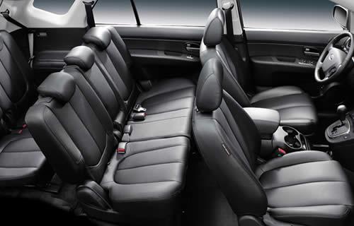 De Kia Carens met de facelift van 2016-2019 - interieur