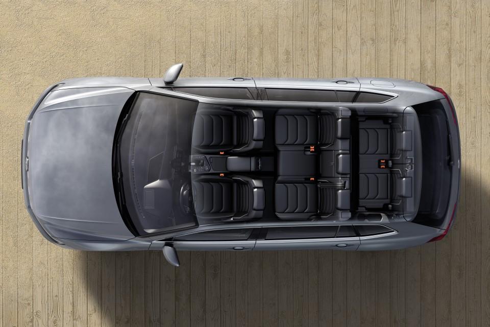 De Volkswagen Tiguan Allspace van 2017 - dwarsdoorsnede