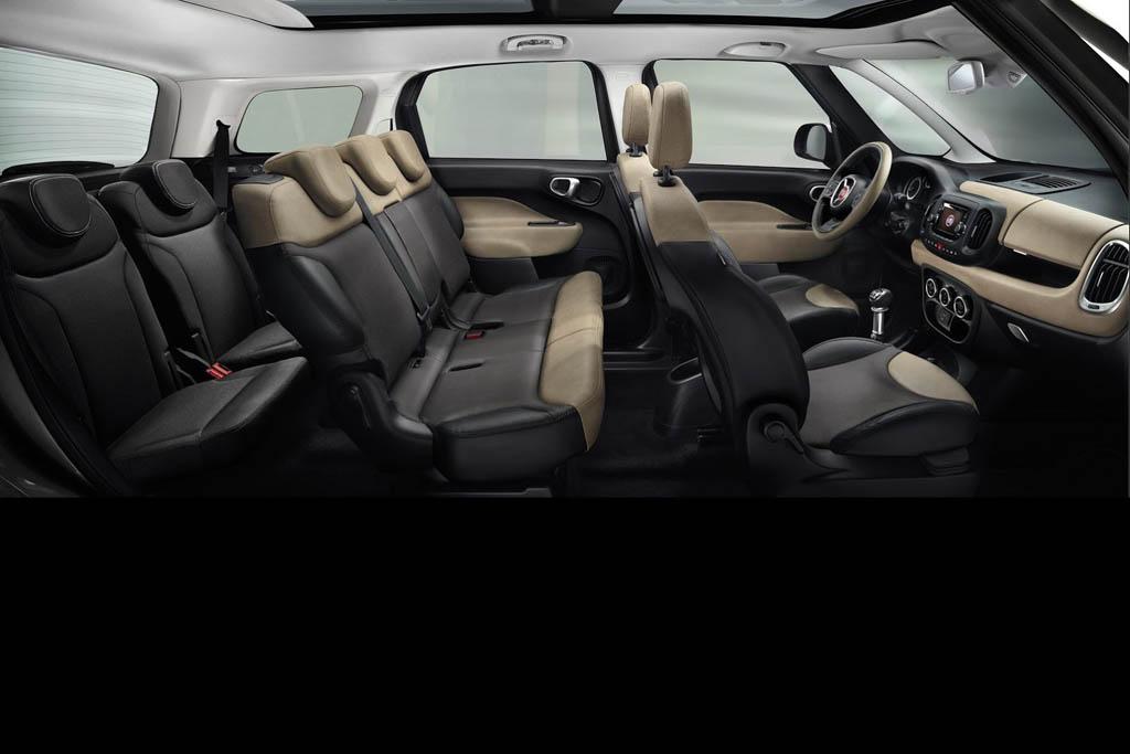 De Fiat 500L Living van 2013-2017 - interieur