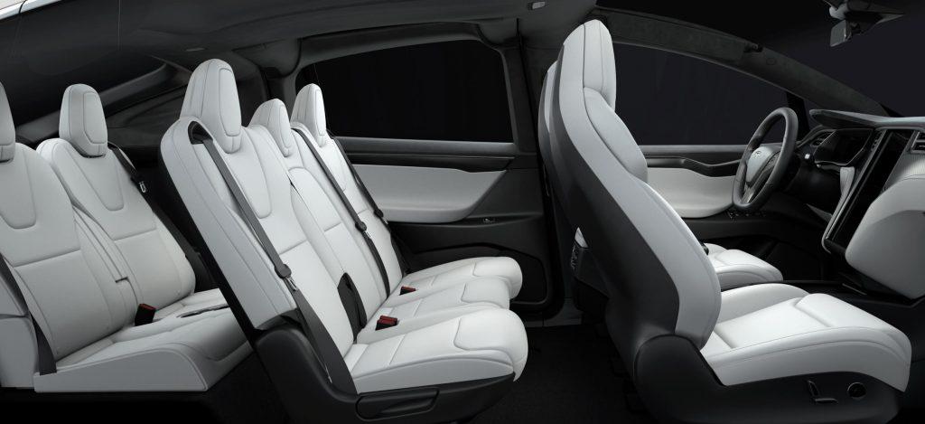 De Tesla Model X van 2016 - interieur