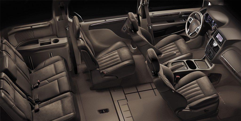 De Lancia Voyager van 2011-2016 - interieur