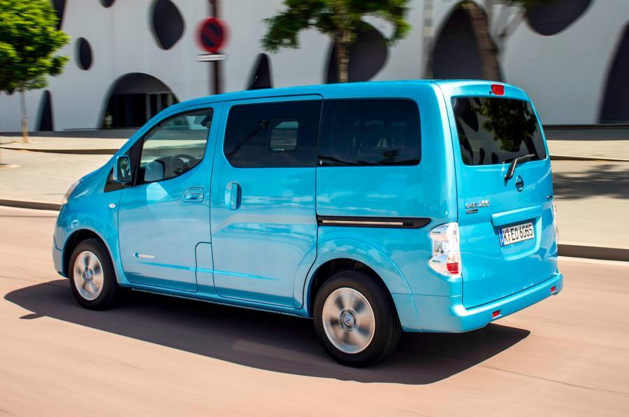 De elektrische Nissan e-NV200 Evalia