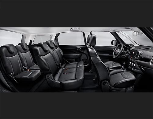 De Fiat 500L Wagon van 2017-2019 - interieur