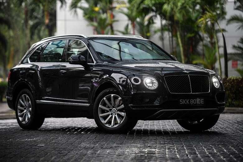 De Bentley Bentayga uit 2016