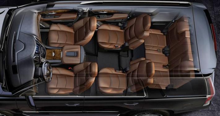 De Cadillac Escalade met de facelift uit 2021 - interieur