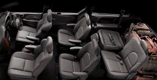 De Chrysler Grand Voyager met de facelift van 2008-2011 - interieur