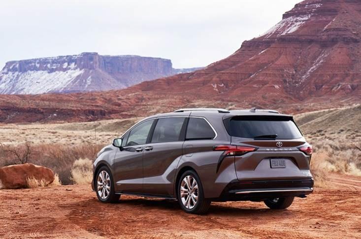 De Toyota Sienna met de facelift van 2020