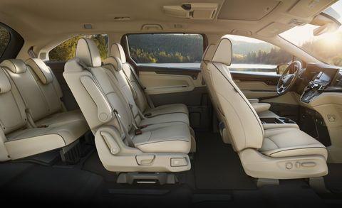 De Toyota Sienna met de facelift van 2020 - interieur
