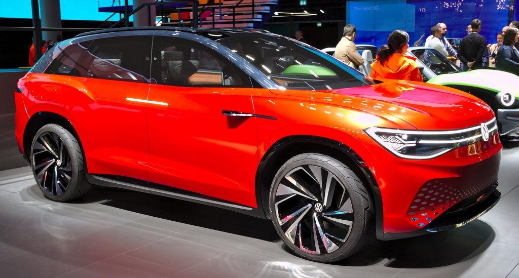De conceptversie van de Volkswagen ID.6 Roomzz