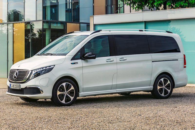 De Mercedes-Benz EQV uit 2020