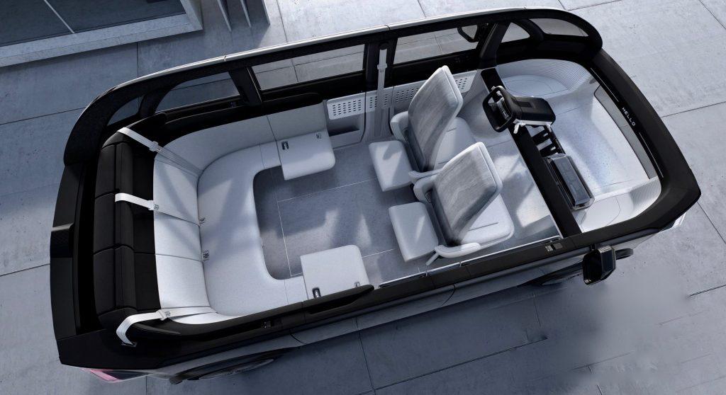 De ruimtelijke indeling de Canoo Lifestyle Vehicle van 2023