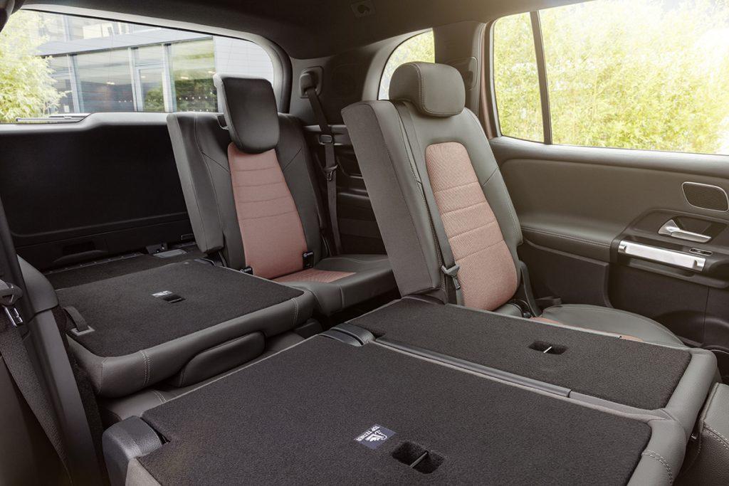 De Mercedes-Benz EQB van 2022 - interieur